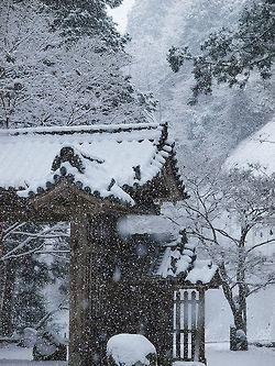 winterEiji Murakami, Snowy Japan, Tanzanjinjya Shrine, Winter Wonderland, 談山神社 東大門, Fairyte Winter, Brown Beautiful, Moo Japan, Winter Beautiful