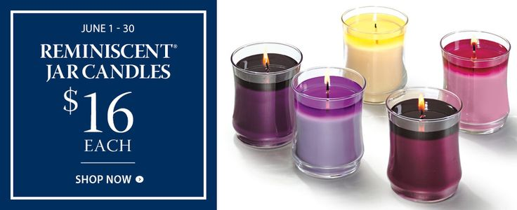 ReminiScent® Jar Candles $16 each for June 2016