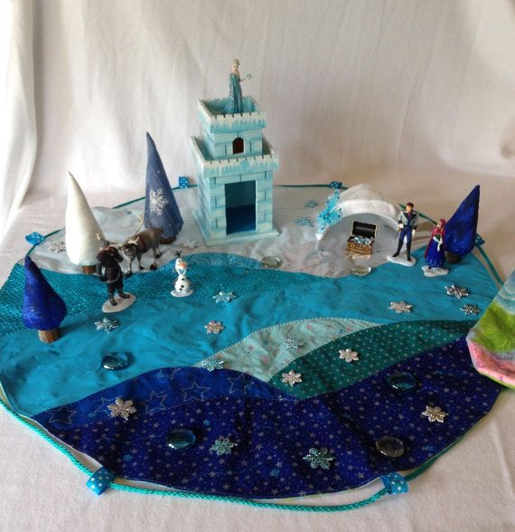 Disney Frozen Play Mat with Characters and by KiddieTogsandMore