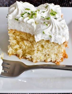 Lemon Lime Cake with Fresh Lime Whipped Cream.