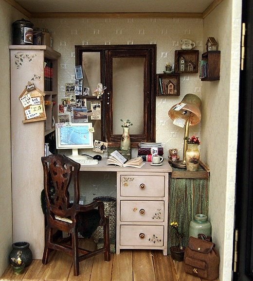 39 Best Images About Dollhouse Office, Study, Library