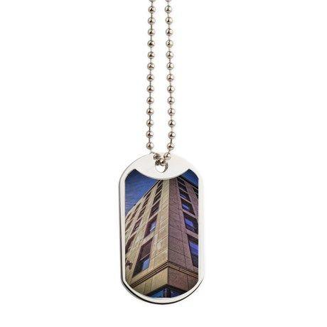 Purple Building II Dog Tags by AngelEowyn. $22.50