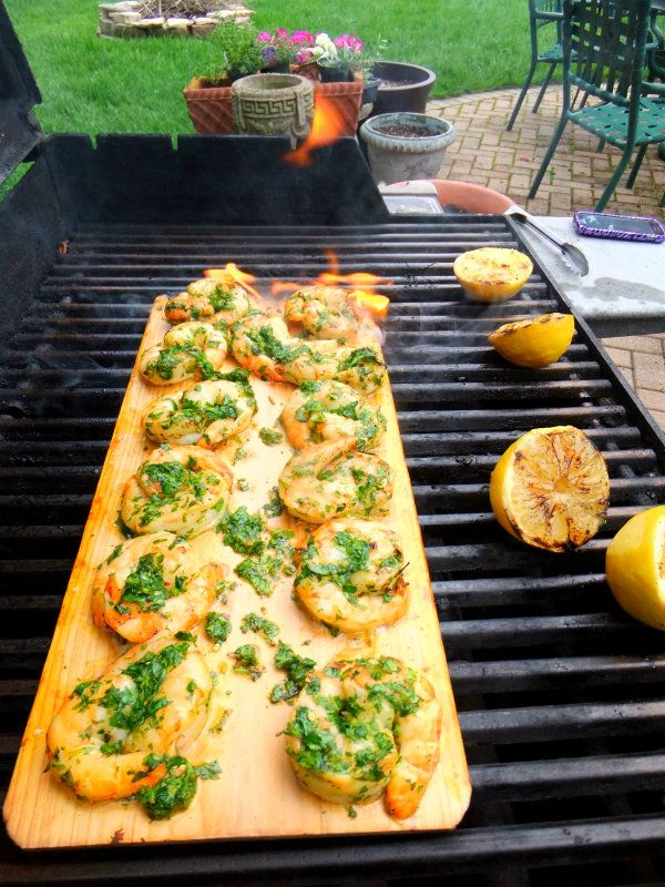 cedar planked shrimp