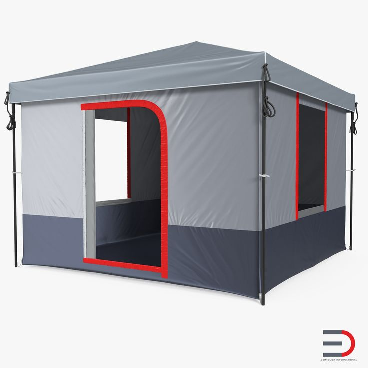 4 Person Cabin Camping Family Tent 3d model
