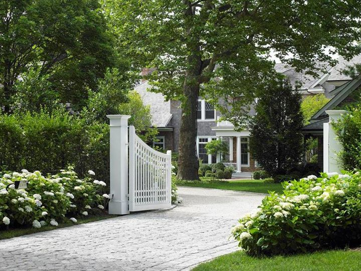 beautiful driveways and landscapes | ... & garden - driveway entrance front gate - buildings and landscape