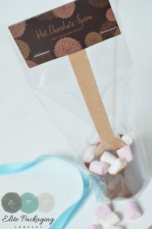 Chocolate Spoon Topper made from 450 micron board safe board. www.elitepackagingcompany.co.uk