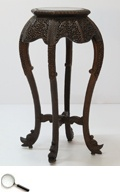 A Carved Rosewood Stand, Chinese, circa 1900