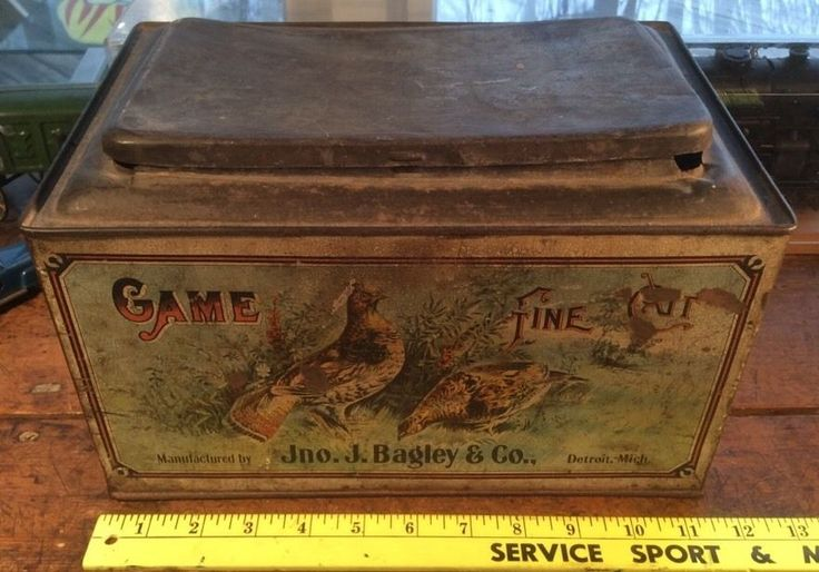 VINTAGE TOBACCO GAME FINE CUT TOBACCO STORE TIN COUNTER DISPLAY ADVERTISING   eBay
