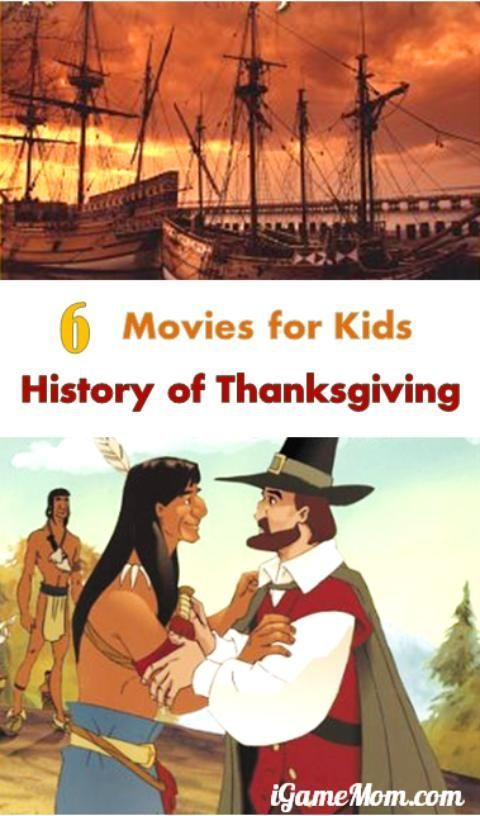 6 movies for kids to learn Thanksgiving history, that are great for the whole family to watch together.
