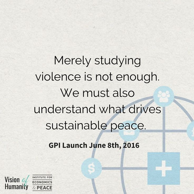 The tenth edition of the Global Peace Index is being launched on June 8th. In the meantime check out our interactive maps at visionofhumanity.org. Stay tuned!  #GCSPDiscussion #GPI2016 #peace #visionofhumanity #sharehumanity #Launch #globalimpact #unite #peacefulness #fact #research #peaceresearch #peaceful #impact #conflict #solution #globalview #economicsandpeace #nonviolence #global #peacefact #peacequote #quoteoftheday #human #humanity #globalgoals #goal16 #sustainability #worldpeace…