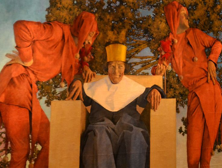 Old King Cole By Maxfield Parrish Located In The St