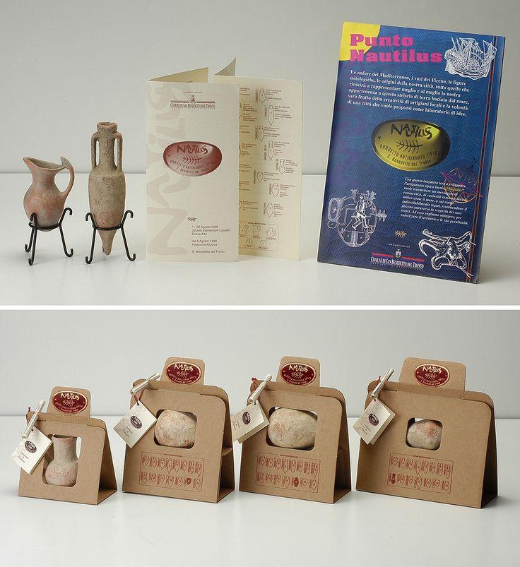 Boxes and corporate identity for amphorae miniature Nautilus, Francesco Del Zompo