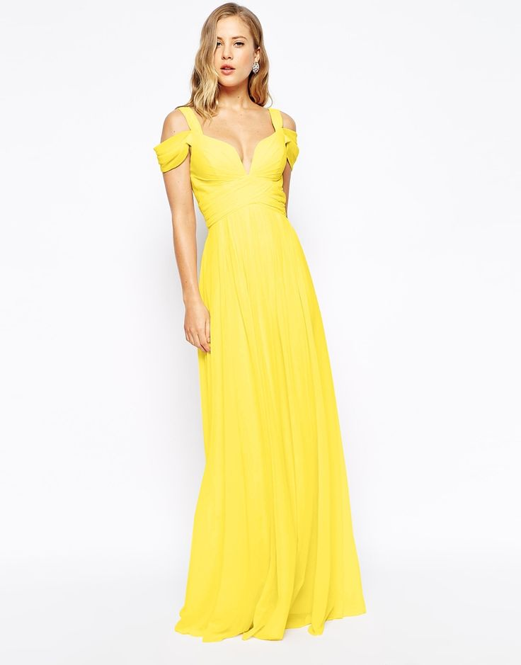16 best yellow maxi dress images on Pinterest   Yellow maxi dress ...