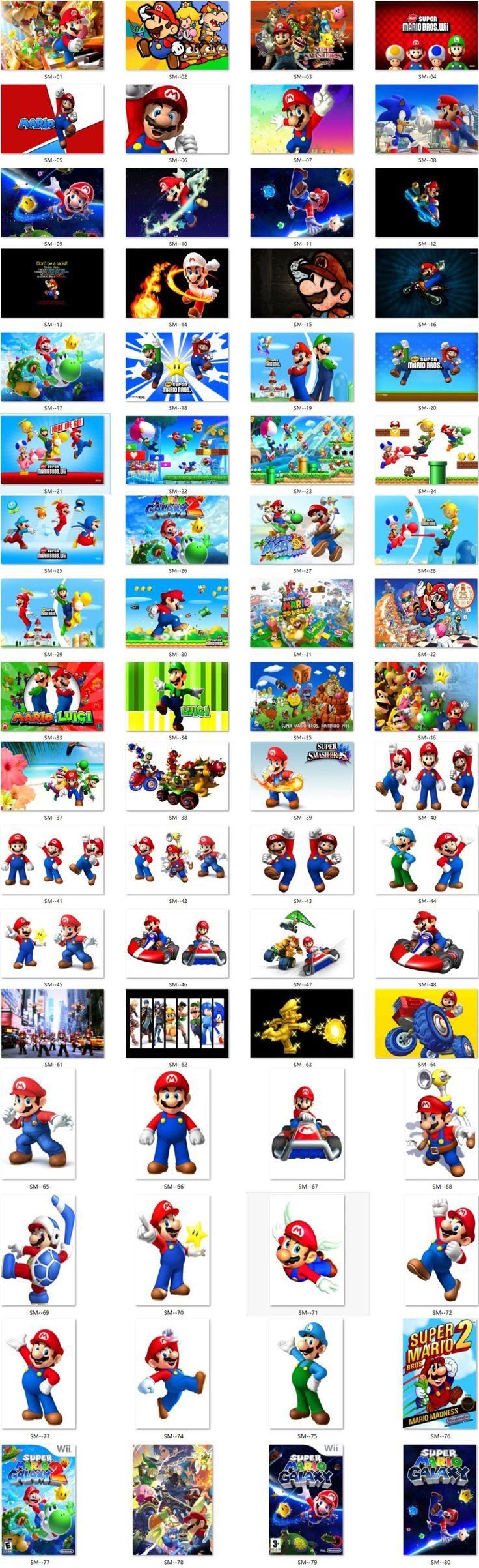 Custom Canvas Art Super Mario Wall Stickers Super Mario Bros Figures Posters Video Games Wallpaper Christmas Decoration #498#