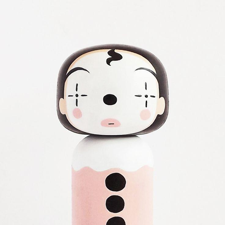 Pierot kokeshi doll by Sketch Inc