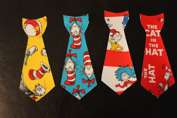 Dr Seuss Iron on Tie Applique 3m 18month by CutiePyCreations, $3.50
