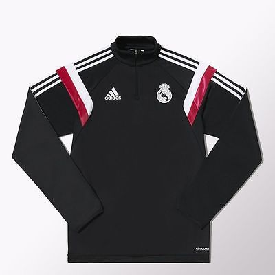 Adidas #men's real madrid #black half zip training jacket #sweashirt top m37189,  View more on the LINK: http://www.zeppy.io/product/gb/2/142059924222/