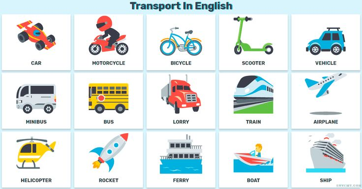 Transport In English And Means Of Transportation In