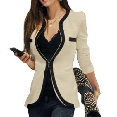 Coffeetime-Fashion-Temperament-Spell-Farbe-Langarm-Slim-Small-Blazer-0