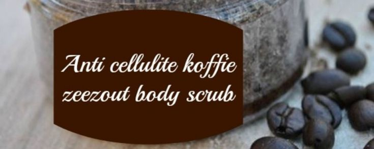 Koffie zeezout bodyscrub, voor een gladde en zachte huid