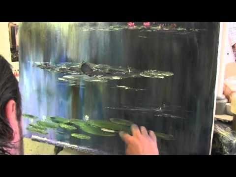 По мотивам Моне , живопись для начинающих, Сахаров - YouTube