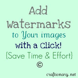 Add automatic (group) watermarks to photos and images (tutorial) - Craftionary