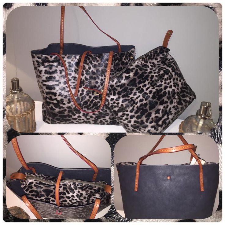 Handtas bag in bag twee kanten draagbaar Hallo fashion