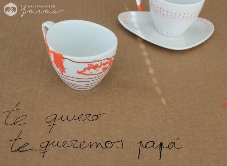 DIY pintar tazas de cerámica para papá - En las manos de Yaras!