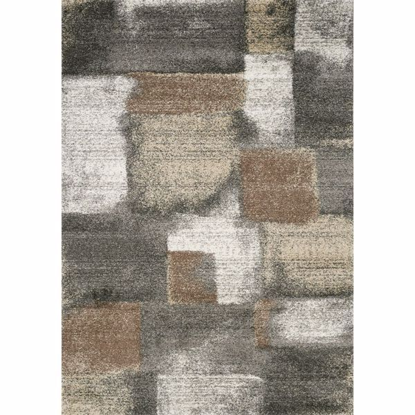 Breeze Gray Ivory Brown 5x8 Rug Area Rugs Rugs Brown And Grey