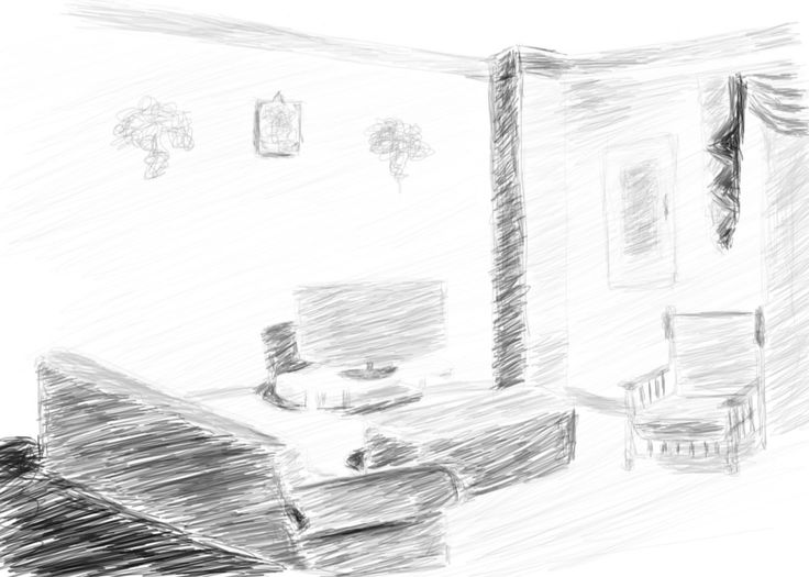 sketch of my home on photoshop