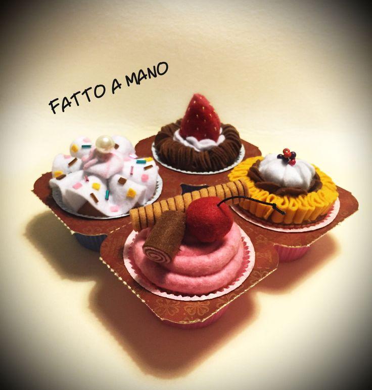 Cupcake fatti a mano in feltro by StilosaMente on Etsy