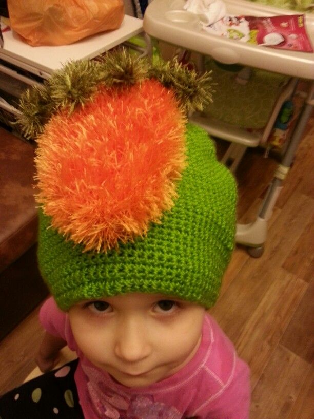 Шапка-морковки