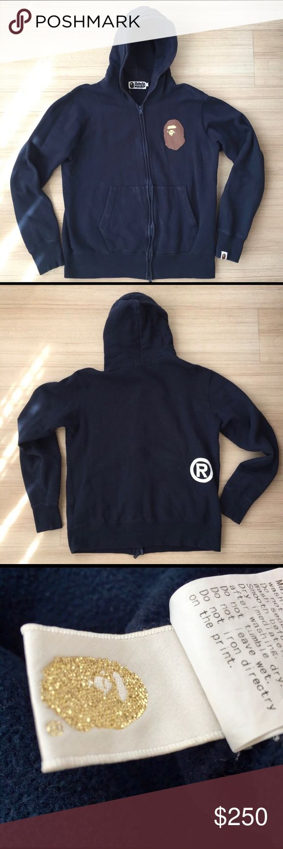 APE, Apc, BAPE blue hoodie Hoodie from back in the day. Been a