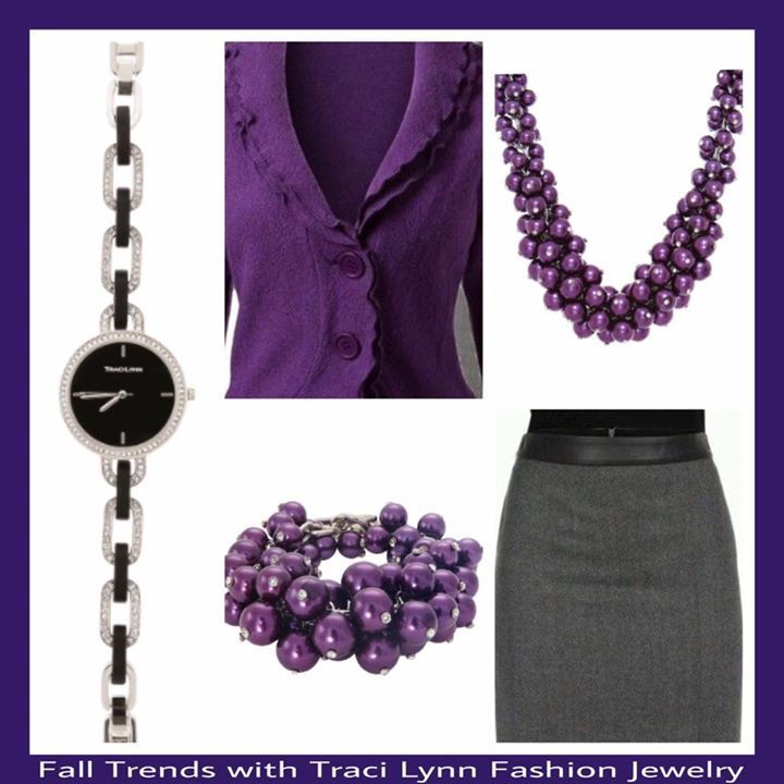 Traci Lynn Fashion Jewelry     Purple Reign Collection     Perfect Timing Watch