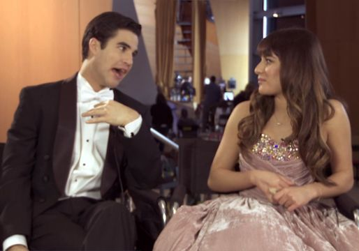 Glee Video Exclusive: Lea Michele and Darren Criss Preview Their Big Broadway Moment