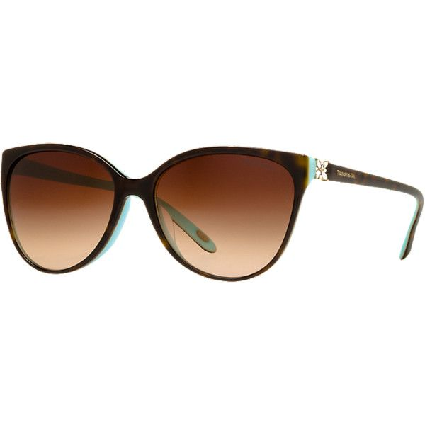 Tiffany & Co. Tf4089bf 58 Blue Cat Sunglasses ($320) ❤ liked on Polyvore featuring accessories, eyewear, sunglasses, blue, tiffany & co glasses, folding glasses, tiffany & co sunglasses, folding sunglasses and blue cat eye glasses