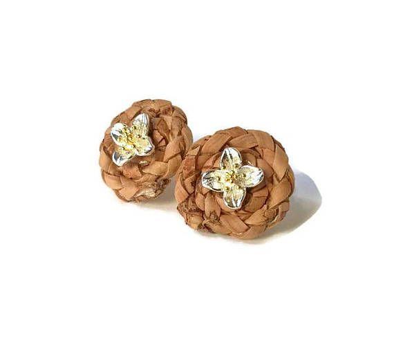 Dainty cork earrings nest earrings cork jewelry cork