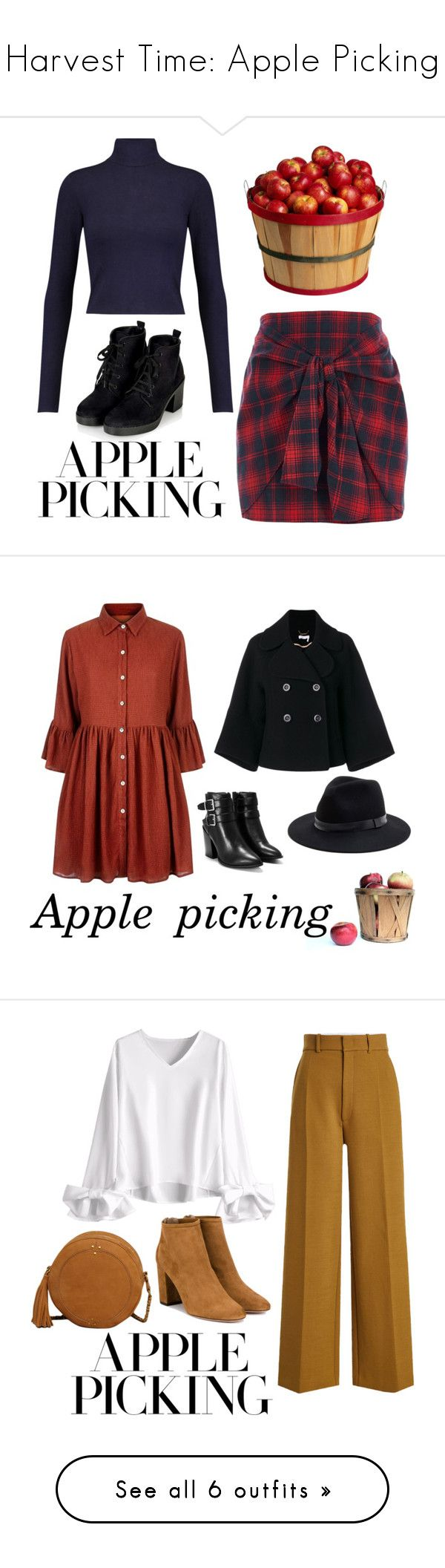 """Harvest Time: Apple Picking"" by svs-selma-svs ❤ liked on Polyvore featuring Alice + Olivia, River Island, Mela Loves London, Chloé, Nasty Gal, Sole Society, Joseph, Aquazzura, Jérôme Dreyfuss and Tom Ford"