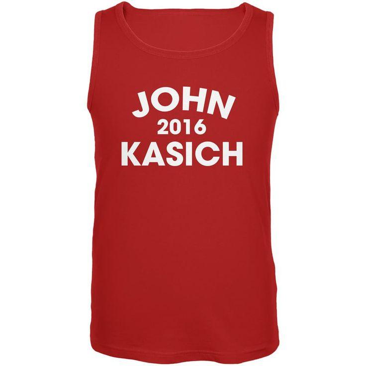 Election 2016 John Kasich Varsity Red Adult Tank Top