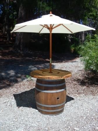 Wine Barrel Umbrella Stand