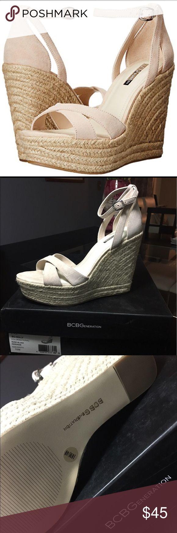 Spotted while shopping on Poshmark: BCBG BCBGeneration Holly Nude Blush Size 10 Wedges! #poshmark #fashion #shopping #style #BCBGeneration #Shoes