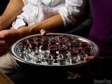 passing the communion tray