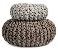 Flocks Pouf   Hand Knitted Seat, Table, Ottoman Or Purely Organic Sculpture