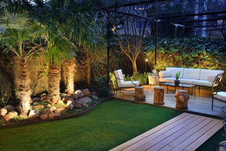 Cómo diseñar un jardín de 30, 50 y 100 metros cuadrados Garden Waterfall, Backyard Patio Designs, Backyard Ideas, Dream Home Design, Diy Garden Decor, Garden Landscaping, My House, New Homes, Outdoor Decor