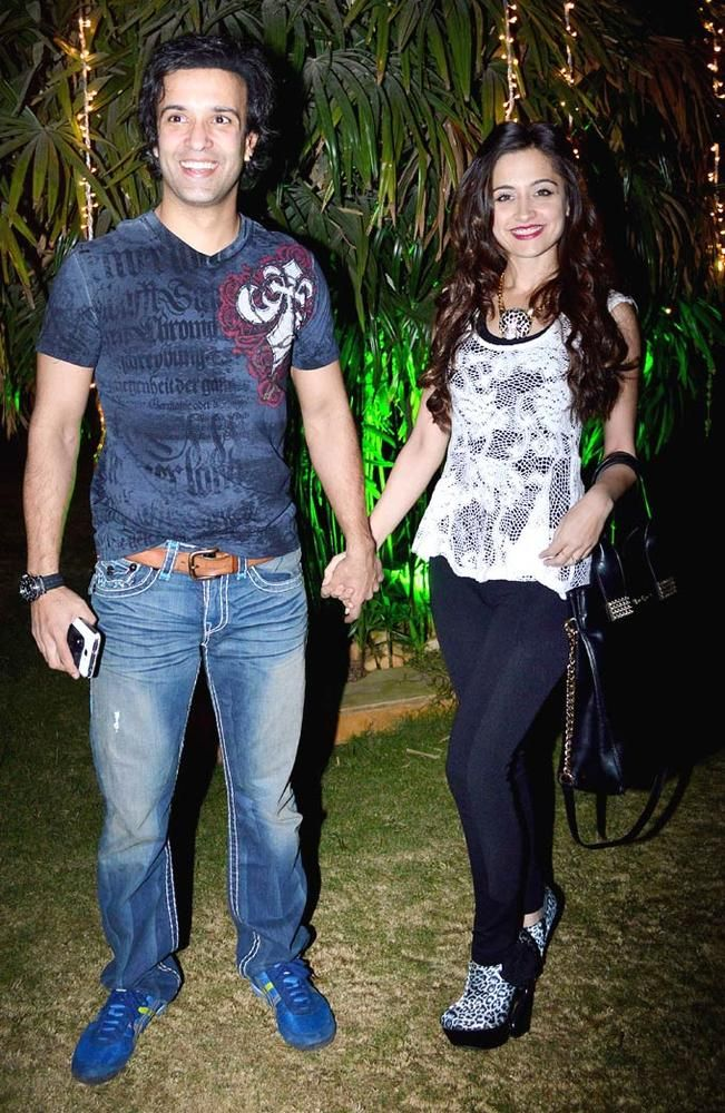 Aamir Ali and Sanjeeda Sheikh at the launch of the GR8 Calendar 2014. #Style #Bollywood #Fashion #Beauty
