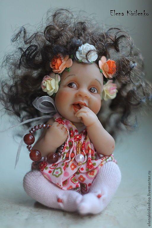 Купить Viorica - розовый, Кукла-младенец, prosculpt, краски масляные, хлопок, шерсть
