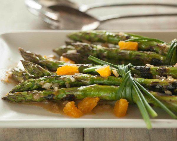 Grilled Asparagus Bundles with Dijon-Orange Vinaigrette | Recipe
