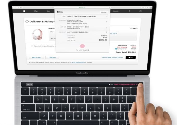 This is the new MacBook Pro with the Magic Toolbar mini display