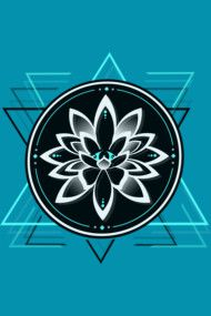 Geometrical Lotus Symbol