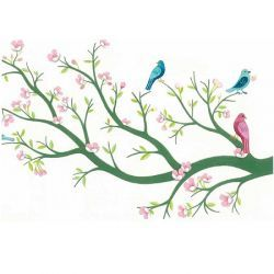 Cherry Tree In Bloom Removable Wall Decals Djeco